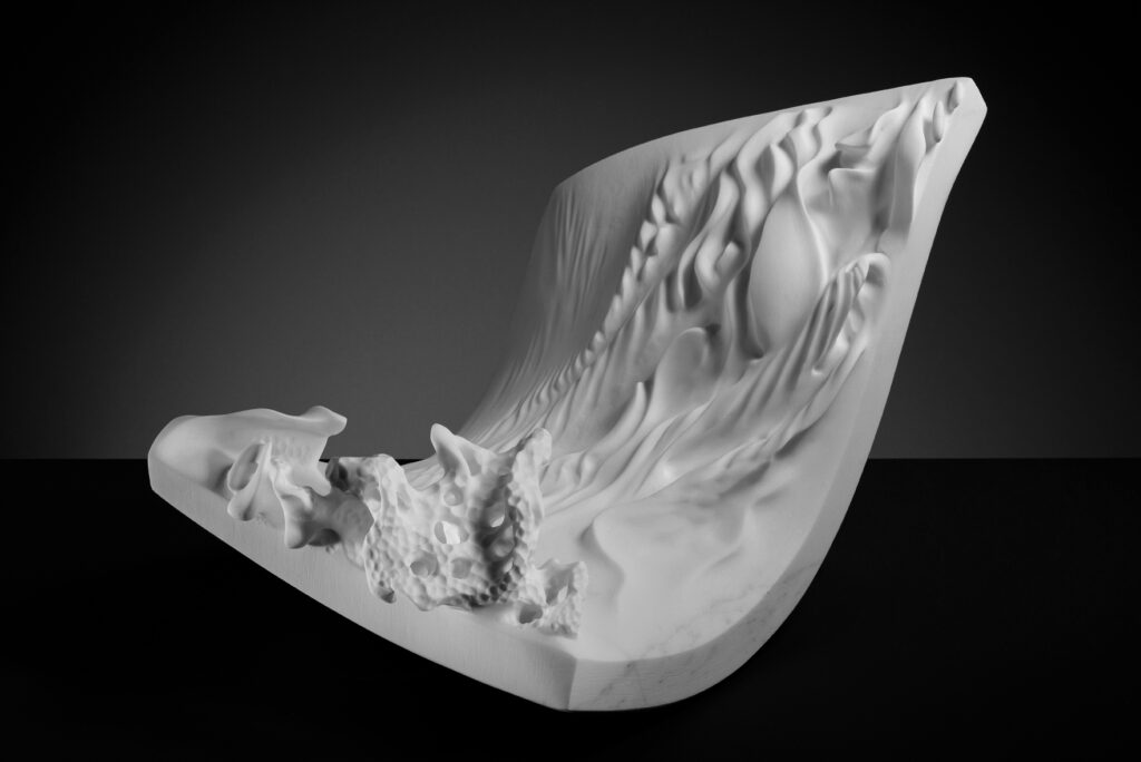 Floating, marmo Carrara Statuario, anno 2016, 60x40x30