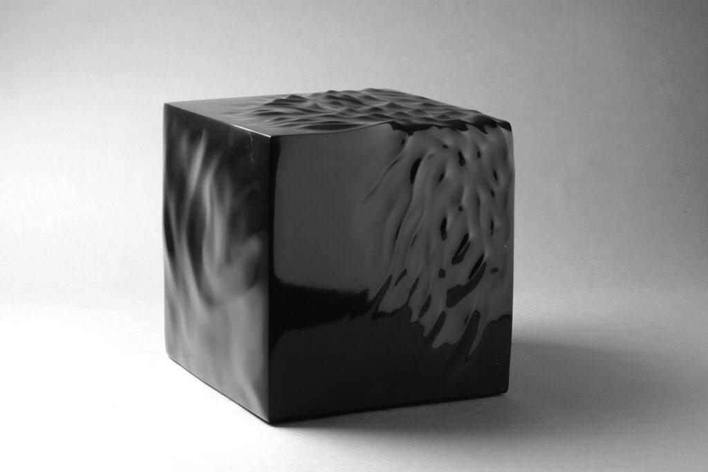 Cubo, marmo Nero Belgio, Anno 2007, 30x30x30