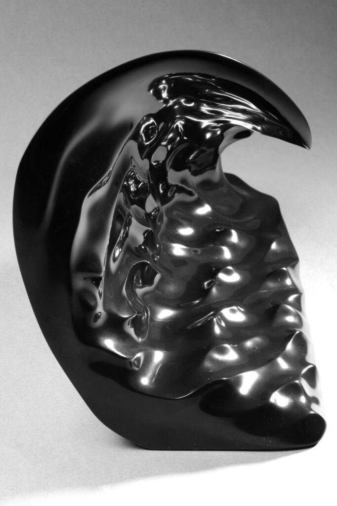 Onda, marmo Nero Belgio, anno 2007, 50x30x25