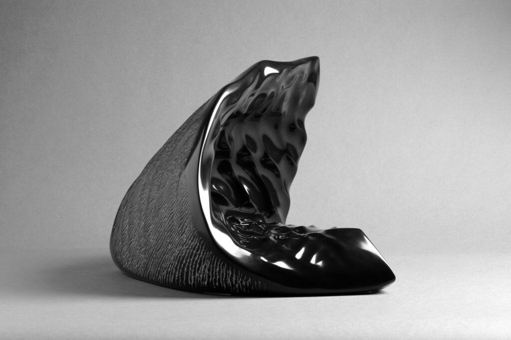 Twist, marmo Nero Belgio, anno 2006, 35x30x30
