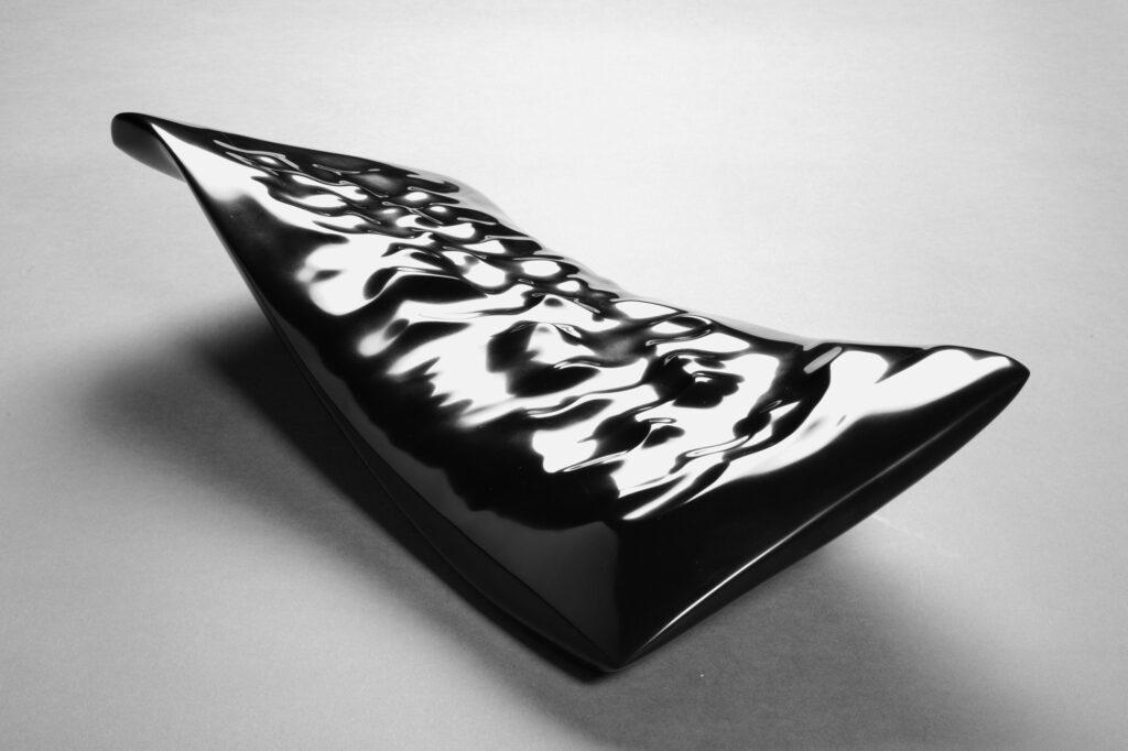 Water Imprint, marmo Nero Belgio, anno 2007, 50x25x15